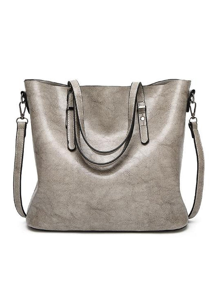 Brook Faux Leather Tote Bag - Modernly Fashome