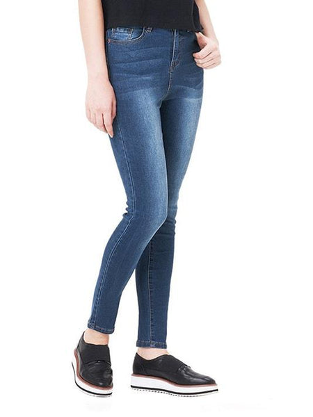 Casual High Waist Skinny Jeans | Jeans Skinny de Cintura Alta Casual - Modernly Fashome