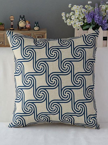 Classical Blue Pillow Cover - Modernly Fashome