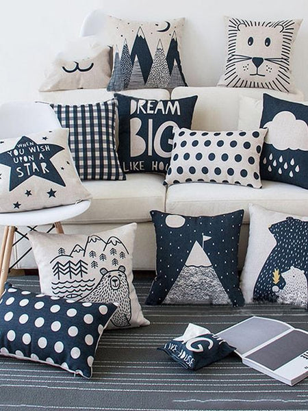 Cute Cartoon Printed Pillow Cover - Modernly Fashome
