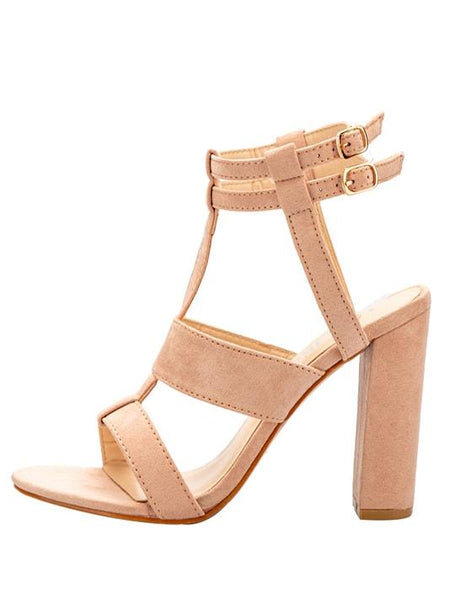 Emy Gladiator Style Buckle Strap Heels - Modernly Fashome