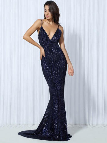 Exposed Evening Dress - Modernly Fashome