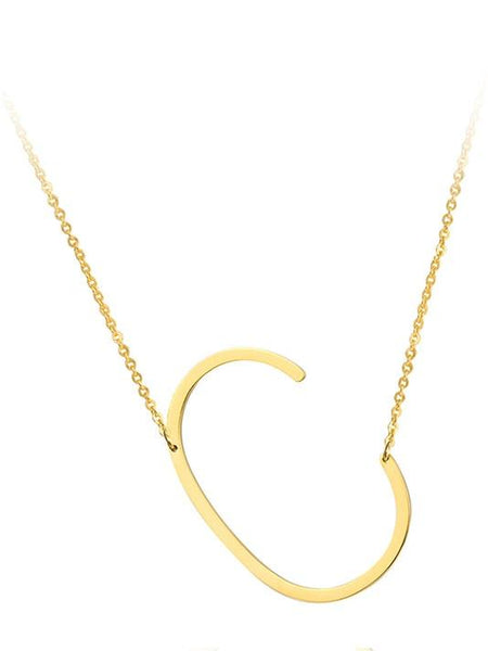Gold Plated Letter Necklaces - Modernly Fashome
