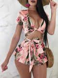Floral Bodycon Playsuit - Modernly Fashome