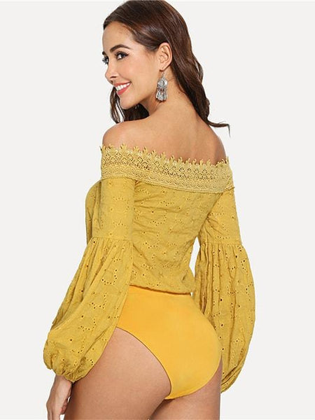 Going Out Off-Shoulder Bodysuit - Modernly Fashome