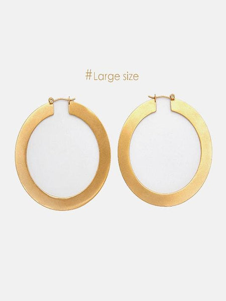 Modern Small/Large Hoop Earrings - Modernly Fashome