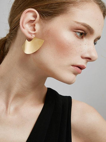Big Fan Drop Earrings | Big Fan Drop Earrings - Modernly Fashome