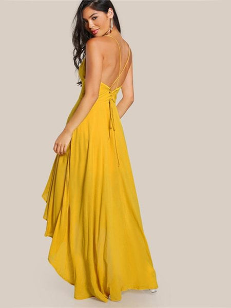 Draped Backless Party Dress - Modernly Fashome