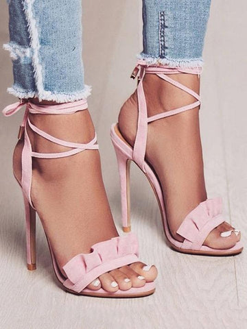Lolita Strappy Lace-Up Heels - Modernly Fashome
