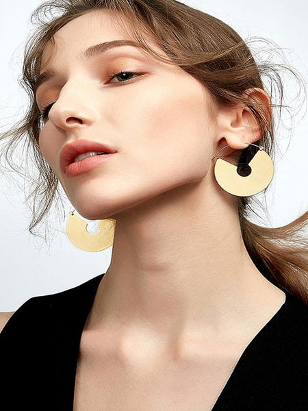 Long Circle Drop Earrings - Modernly Fashome