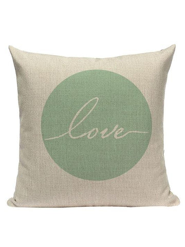 Love - Teal Green Pillow Cover - Modernly Fashome