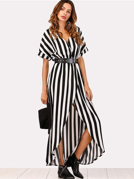 Lovely Vice Striped Maxi Dress - Modernly Fashome