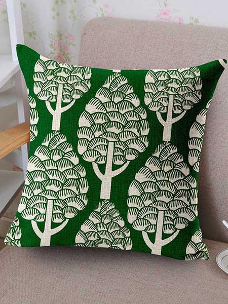 Merry Green Leaves Pillow Cover - Modernly Fashome