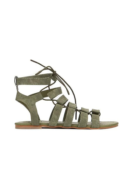 Perry Suede Leather Gladiator Sandals | Sandálias de Gladiador de Couro de Camurça Perry - Modernly Fashome