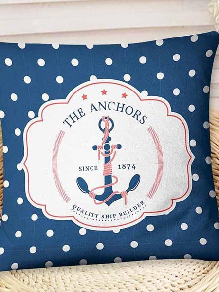 Sea Anchor Inspired Pillow Cover - Modernly Fashome