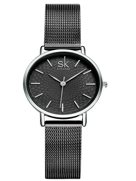 Waterproof Sliver Mesh Stainless Watch - Modernly Fashome