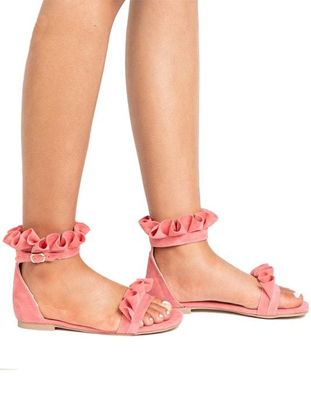 Sweet Flower Pleated Flats - Modernly Fashome