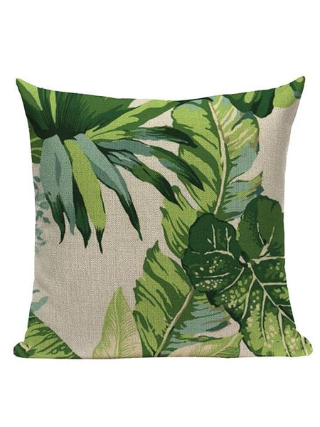 Tropical Palm Leaves Pillow Cover - Modernly Fashome