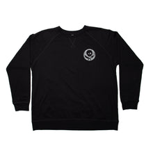 Load image into Gallery viewer, Black Long Sleeve Shirt with Inverted Logo