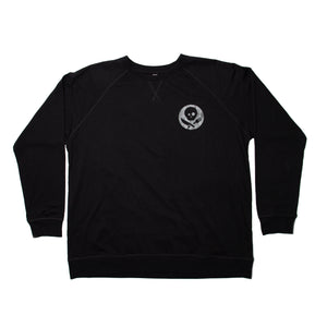 Black Long Sleeve Shirt with Inverted Logo