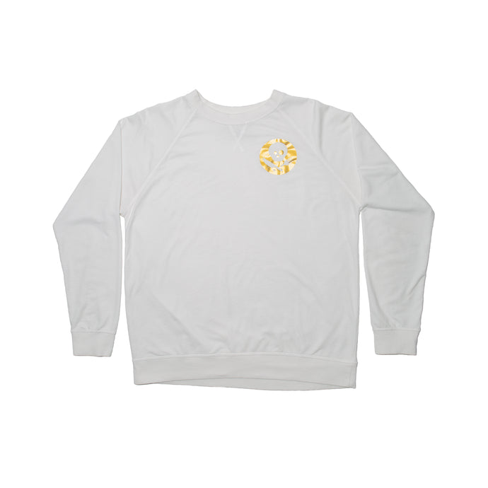 White Long Sleeve Shirt with Inverted Logo