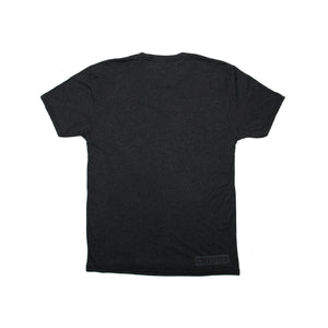 Dark Gray Short Sleeve T-Shirt with Inverted Logo