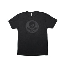 Load image into Gallery viewer, Dark Gray Short Sleeve T-Shirt with Inverted Logo