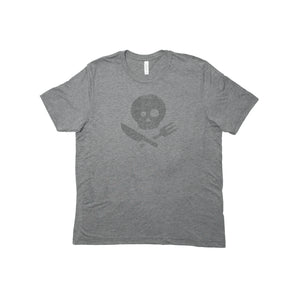 Light Gray Short Sleeve T-Shirt with Logo