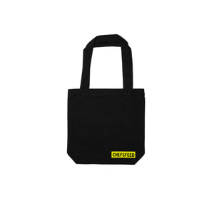 Black Tote Bag with Logo