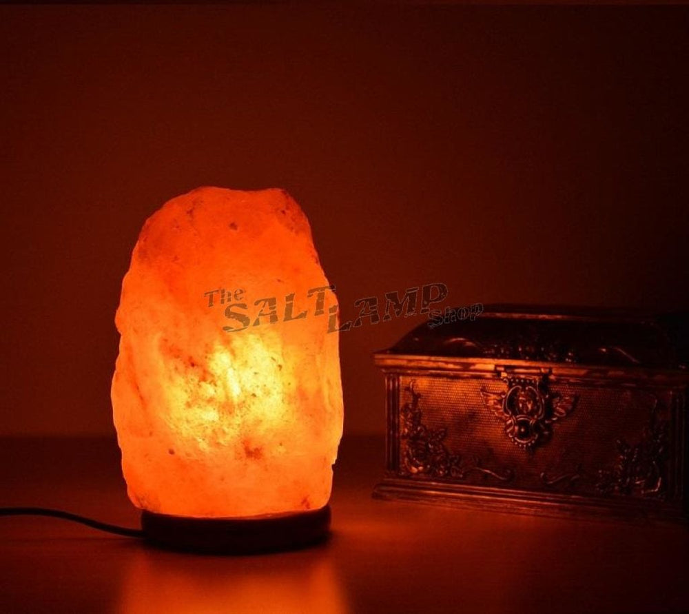 5-7Kg Himalayan Salt Lamp (Timber Base) Natural Shaped