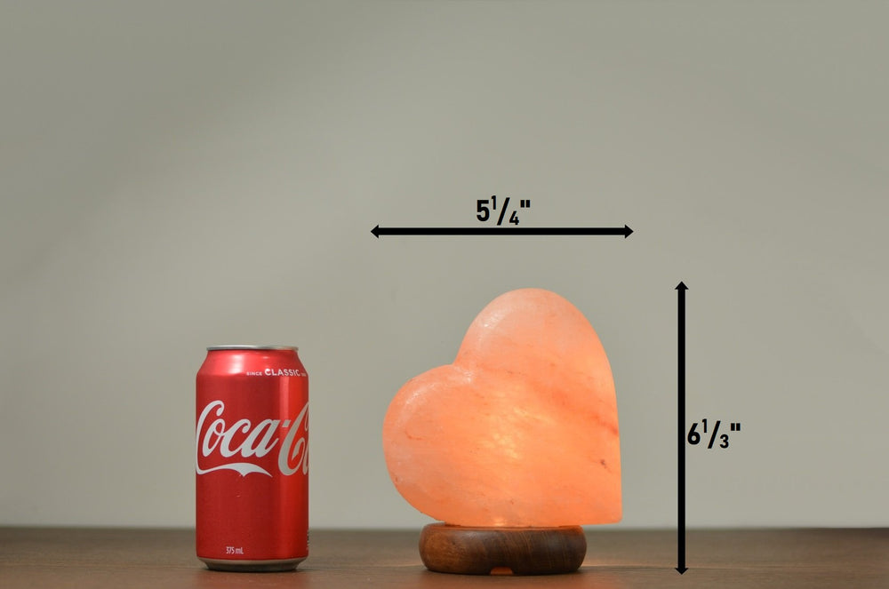 Heart Salt Lamp (Timber Base)