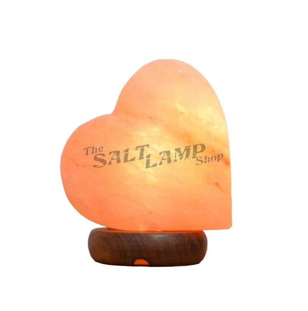 Heart Salt Lamp (Timber Base) Crafted