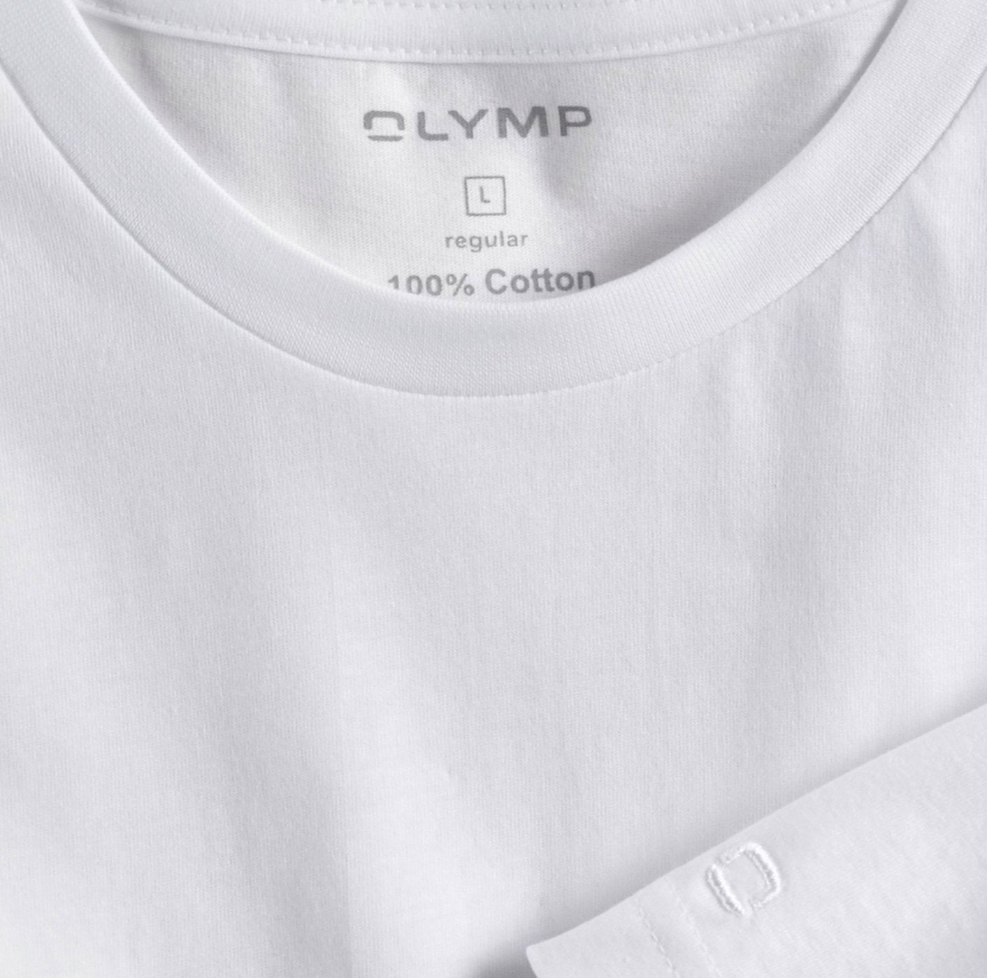 White Round Neck T-Shirt 2 Pack by OLYMP