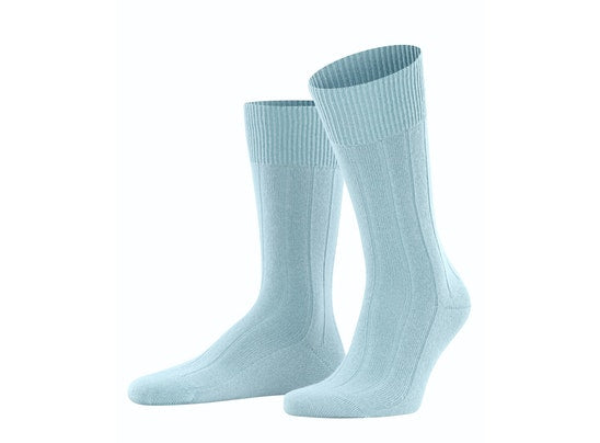 Light Blue Lhasa Rib Men Socks by Falke