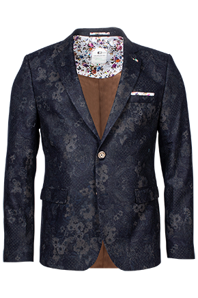 Floral Wool Mix Printed Blazer by Giordano