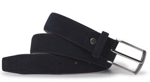 Navy Suede Belt by Tresanti