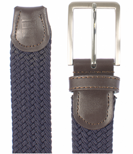 Navy Braided Belt by Tresanti