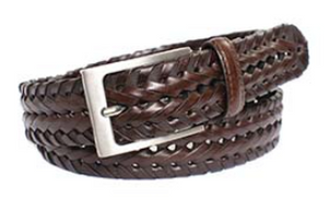 Classic Brown Braided Belt by Tresanti