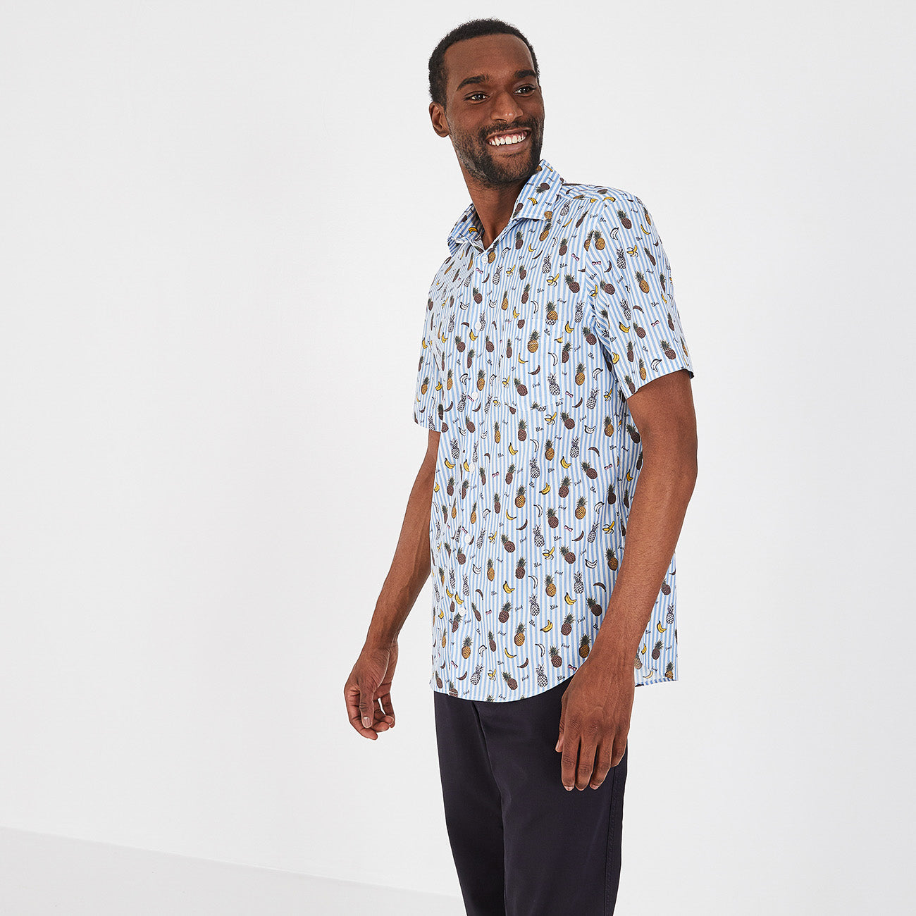 Slim fit fruity short sleeve shirt by Eden Park