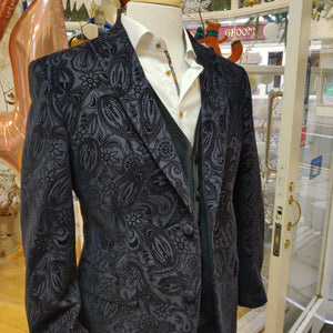 Jacquard Jacket in Black by Mazzelli