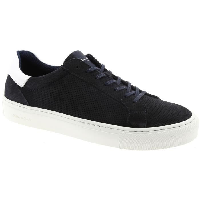 Navy Leather Tennis Sneaker