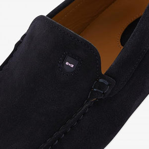 Navy with Pink Sole Driving Shoe by Eden Park