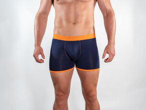 Orange Fitted Bamboo Boxers by Swole Panda