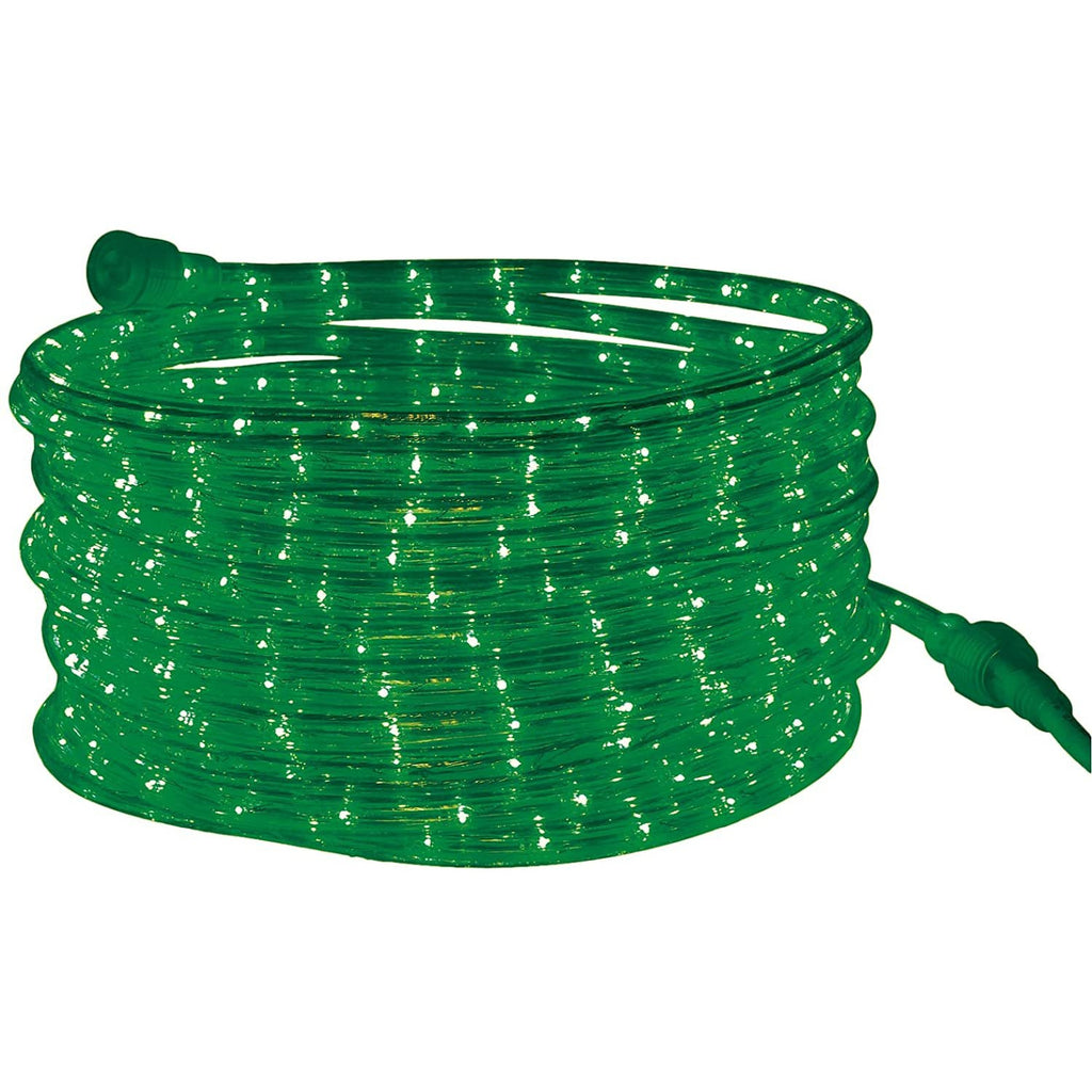 Rope Light LED Green - 24 Feet (7.3 m), for Indoor and Outdoor use - 10MM Diameter - 144 LED Long Life Bulbs Rope Tube Lights
