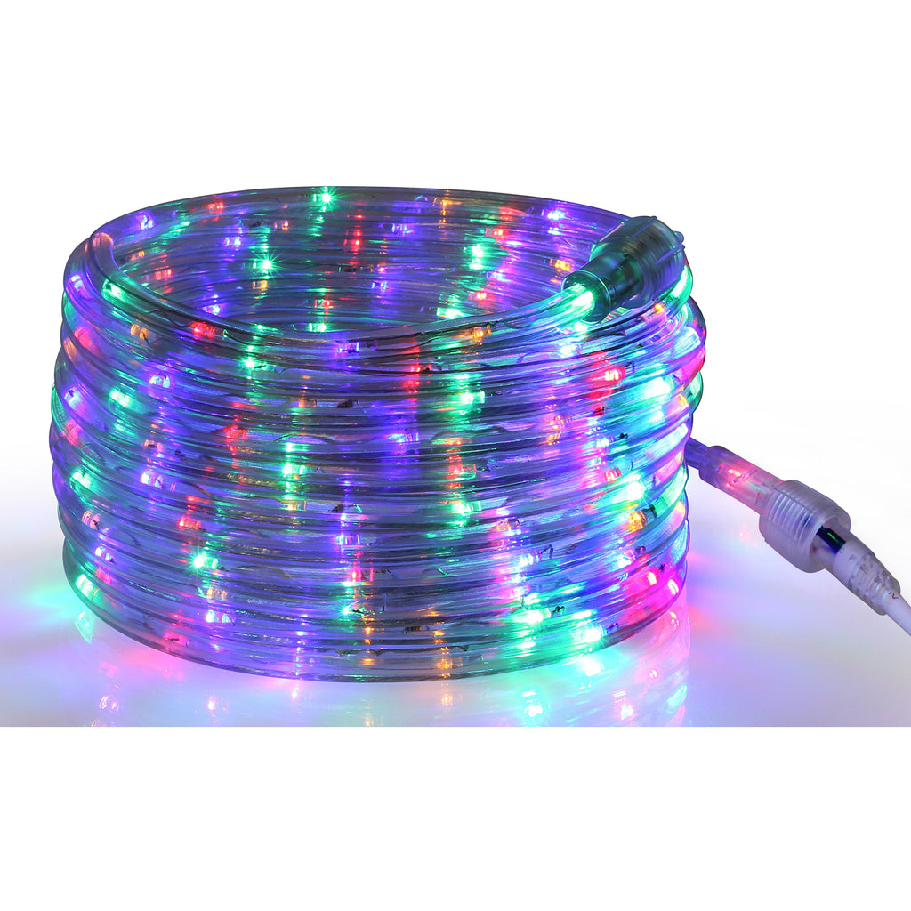 Rope Light LED Multi-Color - 24 Feet (7.3 m), for Indoor and Outdoor use - 10MM Diameter - 144 LED Long Life Bulbs Rope Tube Lights
