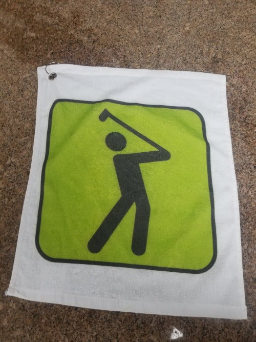 Custom Printed Rally Style Golf Towel