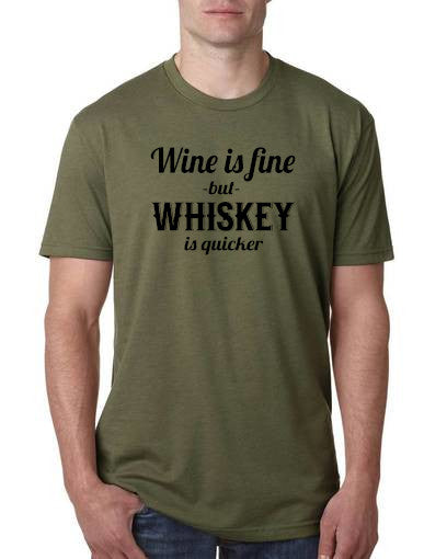 Wine is Fine But Whiskey is Quicker
