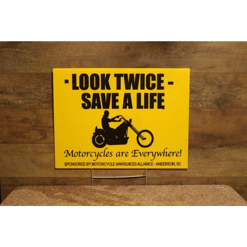 Look Twice Save A Life Yard Sign