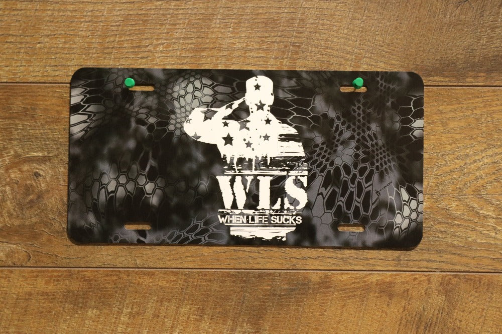 WLS Front Camo License Plate
