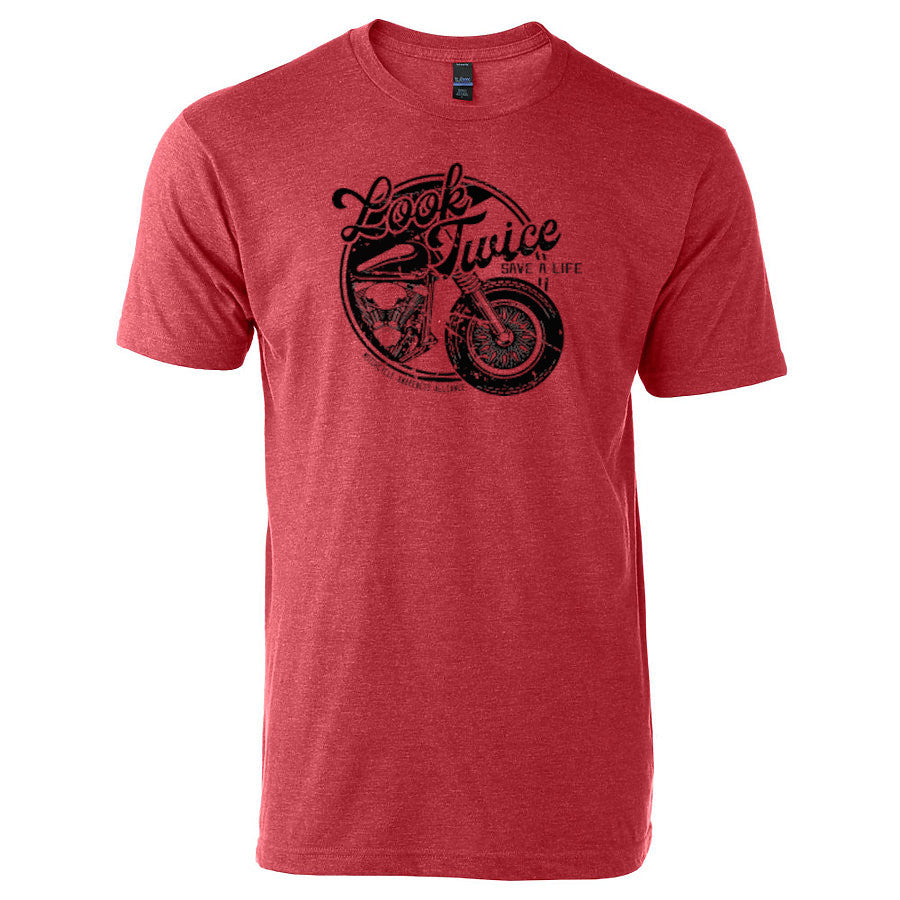 wheel Look Twice Save a Life T-shirt freeshipping - Dip123
